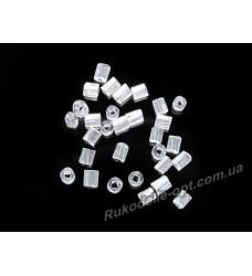 Бисер ювелирный 10/0 прозрачный № 1-11 — рубка крученная