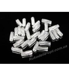 Бисер ювелирный № 1-14 стеклярус крученный 3 прозрачный 500 грамм