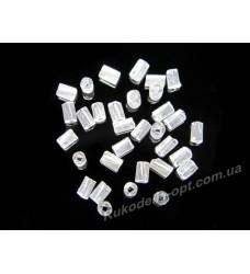 Бисер ювелирный № 1-17 рубка крученная 3 мм прозрачный 500 грамм