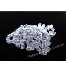 Бисер ювелирный № 1-24 треугольник 10/0 прозрачный 500 грамм