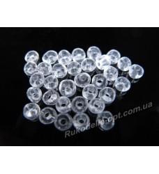 Бисер ювелирный № 1-28 круглый 6/0 прозрачный 500 грамм