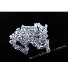Бисер ювелирный № 1-5 квадрат 12/0 прозрачный 500 грамм