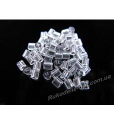 Бисер ювелирный № 1-6 квадрат 8/0 прозрачный 500 грамм