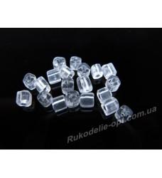 Бисер ювелирный № 1-7 квадрат 6/0 прозрачный 500 грамм