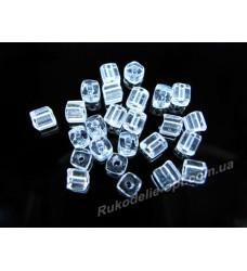 Бисер ювелирный № 1-8 квадрат 6/0 прозрачный 500 грамм