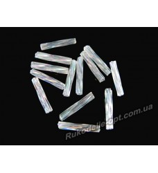 Бисер ювелирный 5 прозрачный AB № 2-16 — стеклярус крученный