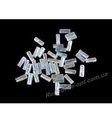 Бисер ювелирный 2 прозрачный AB № 2-18 — рубка крученная