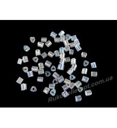 Бисер ювелирный № 2-24 треугольник 10/0 прозрачный AB 500 грамм