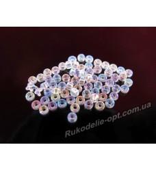 Бисер ювелирный № 2-30 круглый 10/0 прозрачный AB 500 грамм