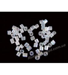 Бисер ювелирный № 2-6 квадрат 8/0 прозрачный AB 500 грамм