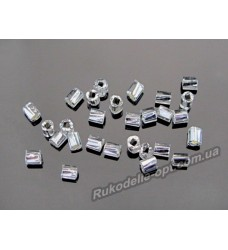 Бисер ювелирный № 3-11 рубка крученная 10/0 серебро 500 грамм