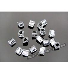 Бисер ювелирный № 3-13 квадрат крученный 8/0 серебро 500 грамм