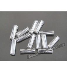 Бисер ювелирный 3 серебро № 3-19 — рубка крученная