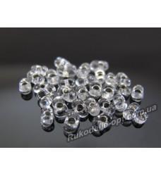 Бисер ювелирный № 3-1 фарфалле 12/0 серебро 500 грамм