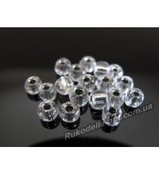 Бисер ювелирный № 3-28 круглый 6/0 серебро 500 грамм