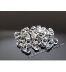 Бисер ювелирный № 3-2 фарфалле 8/0 серебро 500 грамм