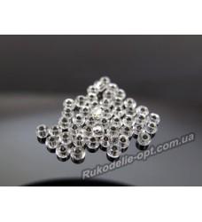 Бисер ювелирный № 3-30 круглый 10/0 серебро 500 грамм