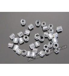Бисер ювелирный № 3-32 рубка 15/0 серебро 500 грамм