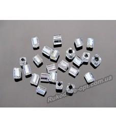 Бисер ювелирный № 3-5 квадрат 12/0 серебро 500 грамм