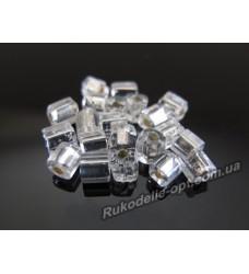 Бисер ювелирный 6/0 серебро № 3-7 — квадрат