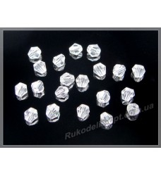 Хрустальные бусины биконус 3 мм цвет crystal