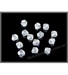 Бусины хрустальные (мод. 157) биконус 4 мм crystal
