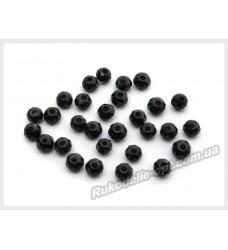Бусины хрустальные (мод. 165) рондель 2 мм черные