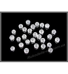 Бусины хрустальные (мод. 165) рондель 2 мм crystal