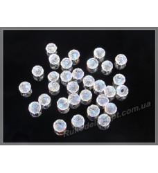 Бусины хрустальные (мод. 165) рондель 2 мм crystal AB +