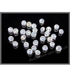 Бусины хрустальные (мод. 165) рондель 2 мм crystal AB