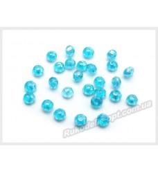 Бусины хрустальные (мод. 165) рондель 2 мм голубые AB № 7