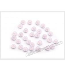 Бусины хрустальные (мод. 165) рондель 2 мм молочно-розовые матовые № 79
