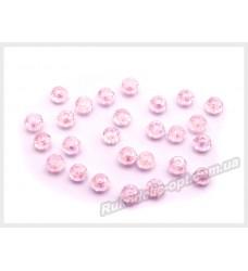 Бусины хрустальные (мод. 165) рондель 2 мм розовые AB № 25