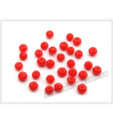 Бусины хрустальные (мод. 165) рондель 2 мм светло-красные матовые № 35
