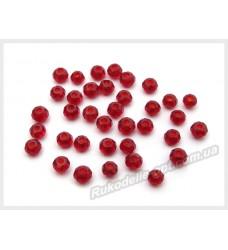 Бусины хрустальные (мод. 165) рондель 2 мм темно-красные № 28