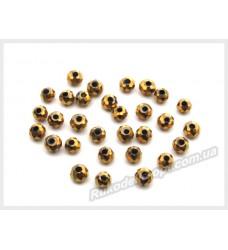 Бусины хрустальные (мод. 165) рондель 2 мм золотые матовые № 86