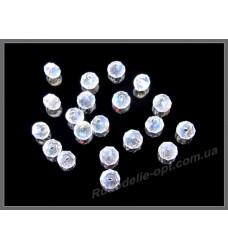Хрустальные бусины рондель 3 мм цвет crystal AB