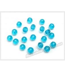 Хрустальные бусины рондель 3 мм цвет голубой
