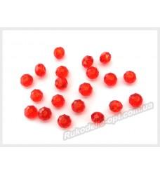 Хрустальные бусины рондель 3 мм цвет красный