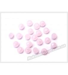 Бусины хрустальные (мод. 165) рондель 3 мм молочно-розовые матовые № 79