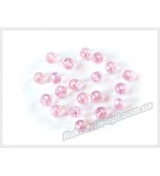 Бусины хрустальные (мод. 165) рондель 3 мм розовые AB № 25