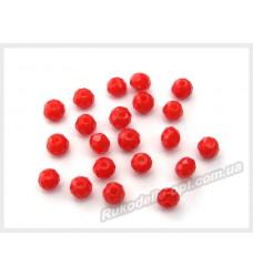 Бусины хрустальные (мод. 165) рондель 3 мм светло-красные матовые № 35