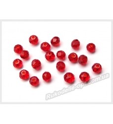 Бусины хрустальные (мод. 165) рондель 3 мм темно-красные № 28