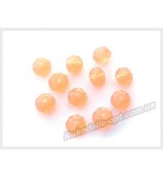 Хрустальные бусины рондель 6 мм цвет абрикосовый матовый