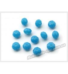 Хрустальные бусины рондель 6 мм цвет бирюзово-голубой матовый