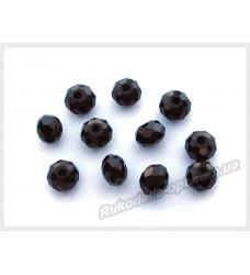 Хрустальные бусины рондель 6 мм цвет черный