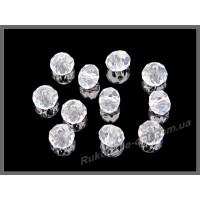 Бусины хрустальные (мод. 165) рондель 6 мм crystal