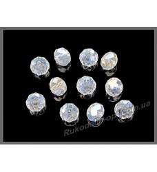 Хрустальные бусины рондель 6 мм цвет crystal AB