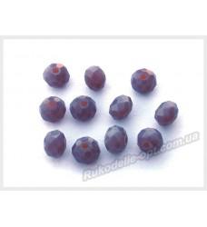 Хрустальные бусины рондель 6 мм цвет фиолетовый матовый