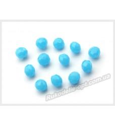 Хрустальные бусины рондель 6 мм цвет голубой матовый